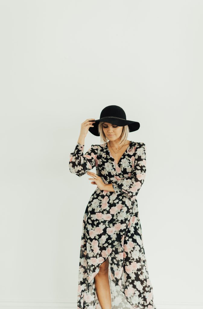 Be More Collection Femme Floral Maxi Dress