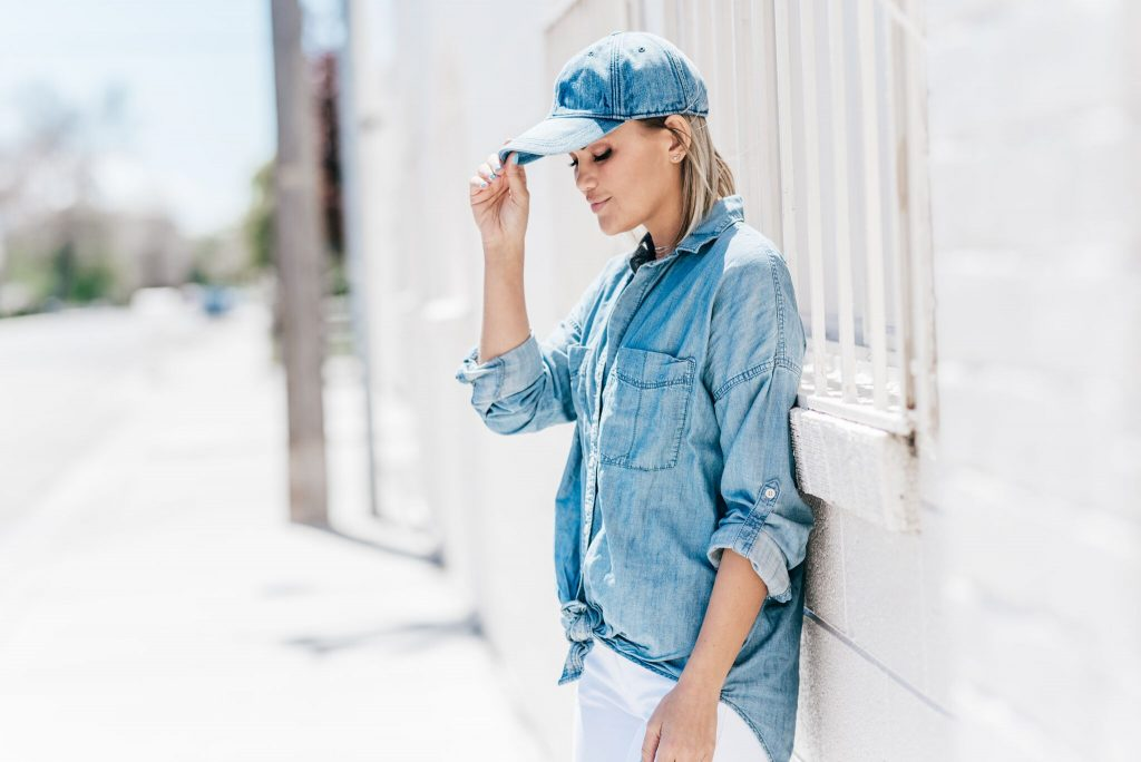 Madewell Baseball Hat and Chambray