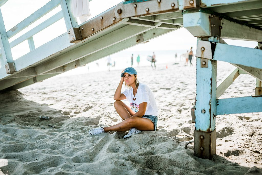 California Graphic Tee and Issues LA Hat