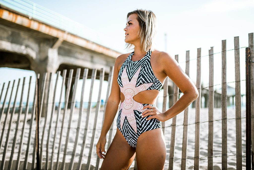 SheIn Knotted One Piece Swim Suit