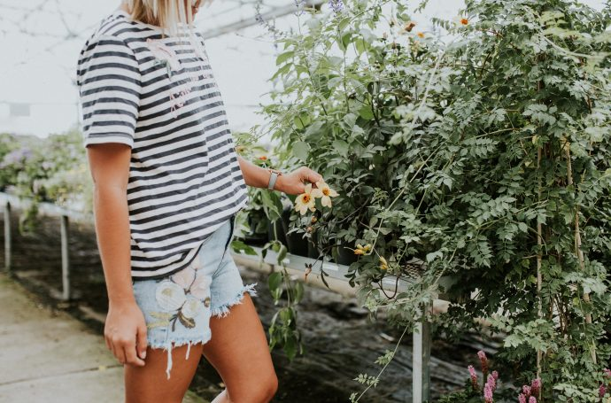 Embroidered Flora Tee and Shop Hello Honey Embroidered Shorts