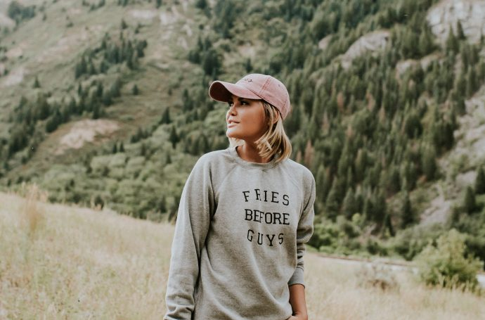 Fries Before Guys Sweatshirt and Issues LA Hat