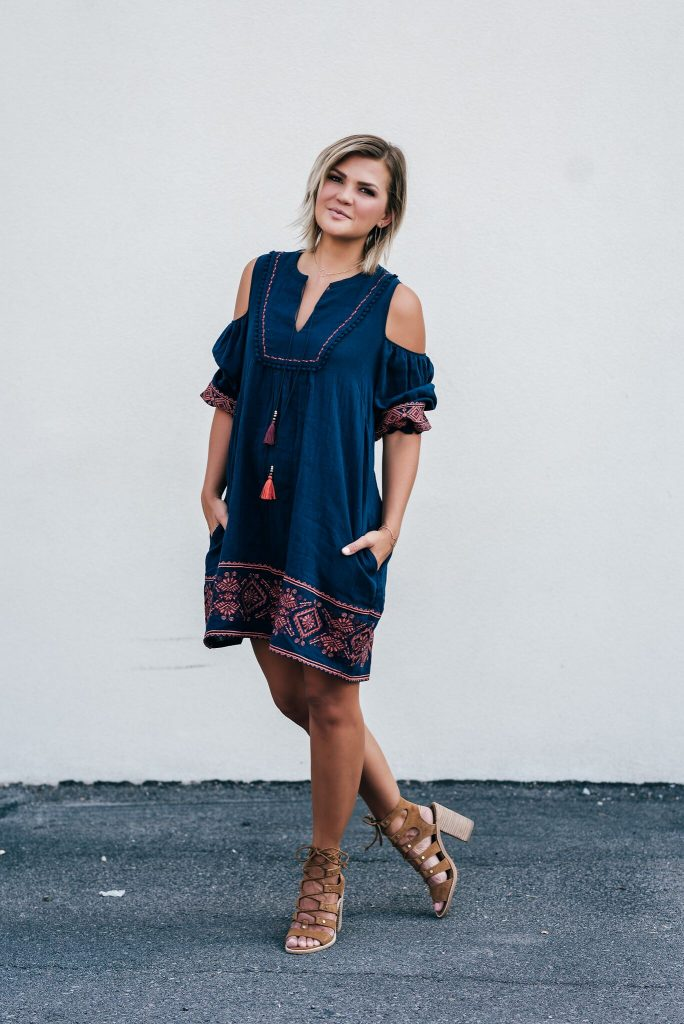 Margaret O'Leary Stefanie Cold Shoulder Dress