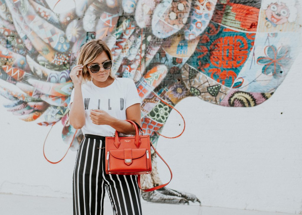 Wild Tee and Zoey Diff Eyewear Sunglasses and Henri Bendel Rivington