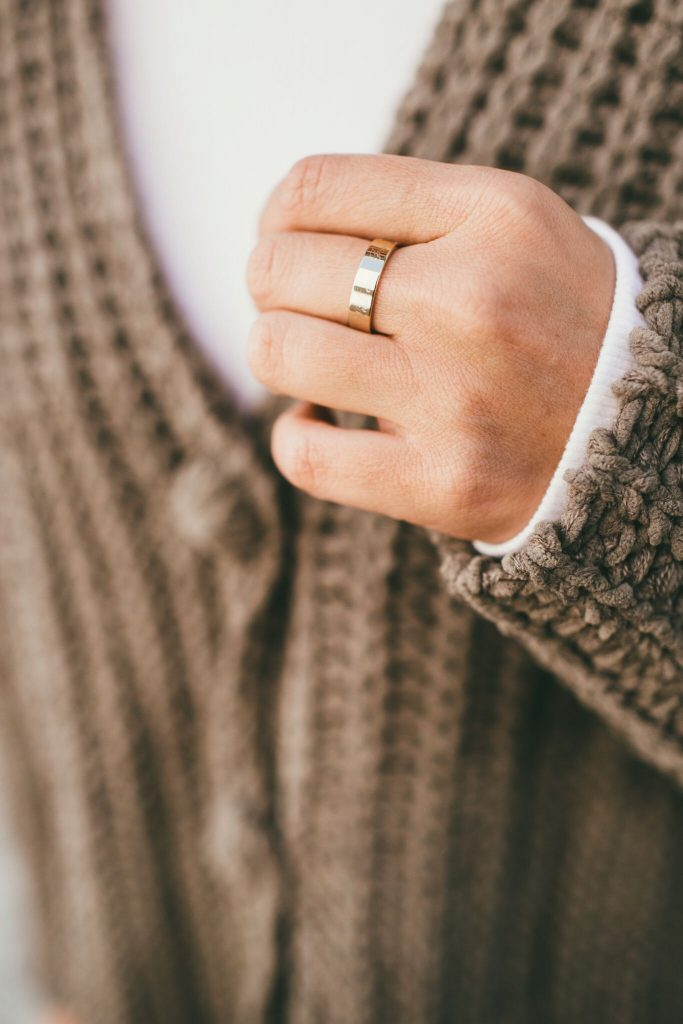 Heartloom Cardigan Sweater and Brooke and York Ring