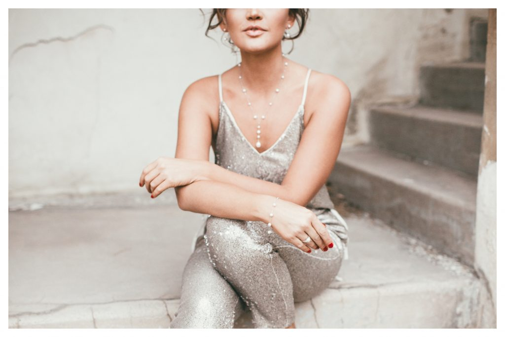 Free People Sequin Jumpsuit Pearls From Morgan Jewelers And A