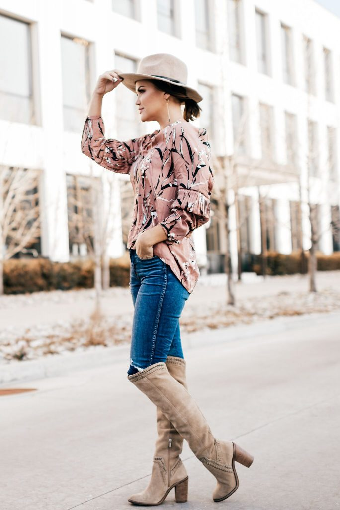Knot Sisters Moonlight Top and Vince Camuto Boots