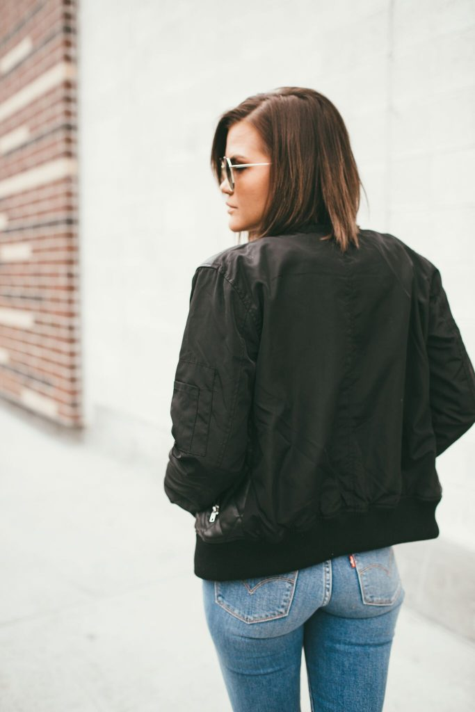 Members Only Quilted Leather Jacket and Diff Sunglasses