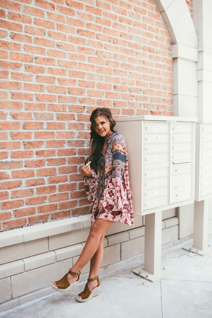 Vici Boho Shift Dress and Marc Fisher Wedges Dupes